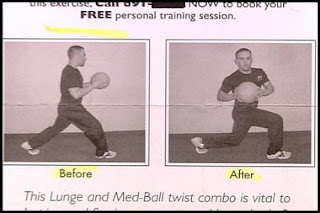funny before and after photos lunge ball what is this about