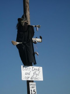 funny witch photos dont drink and fly or drive run into power pole