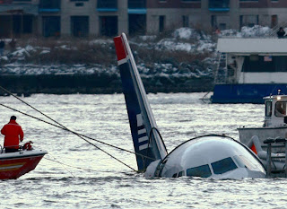sinking us airways plane new york hudson 2009