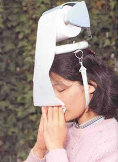 funny new japanese invention for toilet roll on head for blowing nose replaces tissues