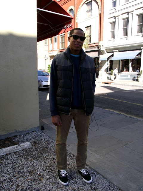 puffy vest and khakis, wayfairer sunglasses, charleston Street Style, southern street style, southern fashion, south carolina street style
