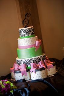 sweet cakes by rebecca - damask wedding cake