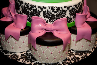 sweet cakes by rebecca - black damask wedding cake