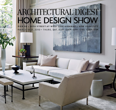 ARCHITECTURAL DIGEST HOME DESIGN SHOW. If Youu0027re In New York City In The  Next Few Days (March 18 21), You Are In For A Treat! You Will Have The  Opportunity ...