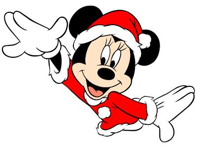 Mickey Mouse navidad vestido de Santa