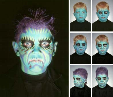 maquillaje hlloween monstruo verde