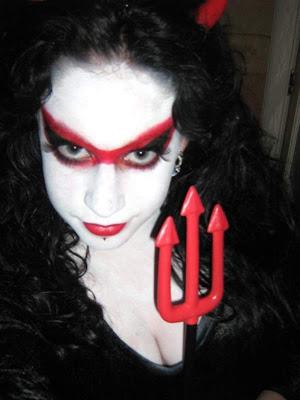 maquillaje y disfraz de demonio - Maquillaje Demonio