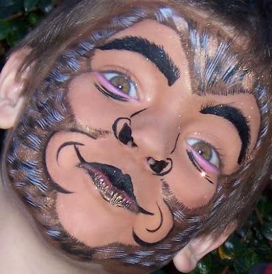 Monkey face makeup - photo#20