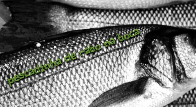 Pescadinha de rabo na boca
