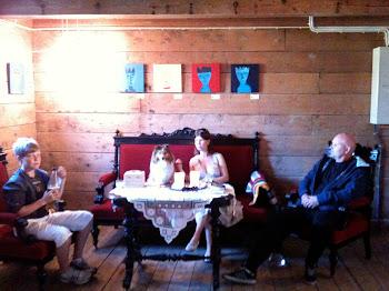 Familien på besøk