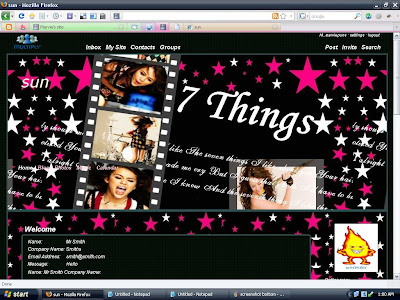 Miley Cyrus 7 Things multiply theme