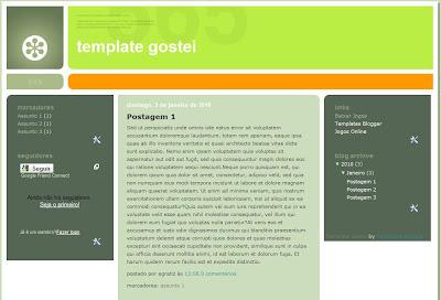 template gostei blogspot blogger