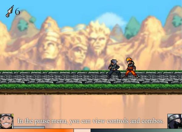 naruto game ninja 2D luta