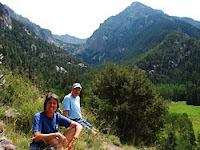 Dad and Laura hiking in Sangre de Cristo Mountains