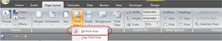 Setting Print Area pada Microsoft Excel 2007