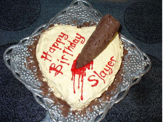 Nik At Nite Happy Birthday Buffy - Slayer birthday cake