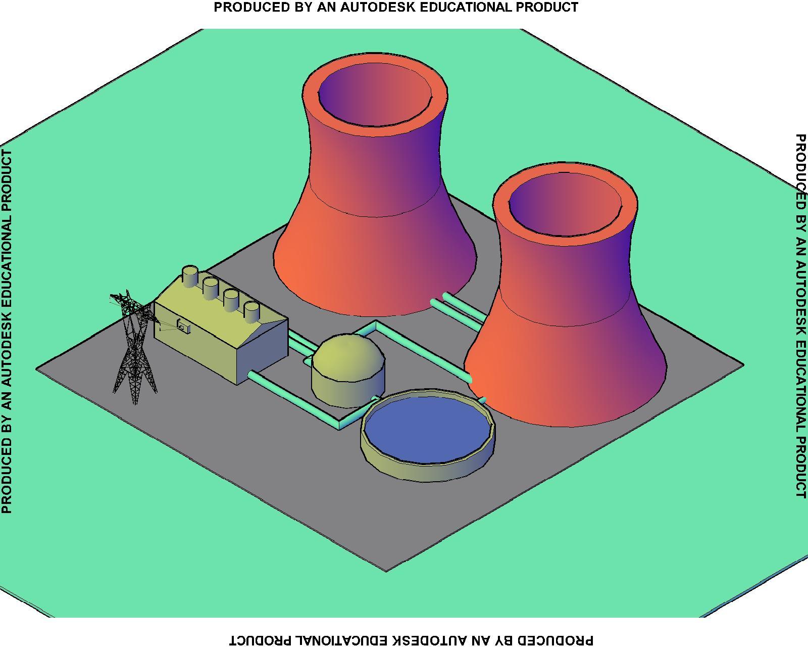 Dibujo Planta nuclear