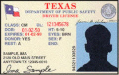 texas driving license from another state