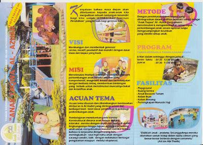contoh brosur sekolah TK TPA Play Gruop menarik