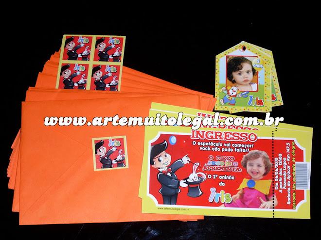 Convites infantis temáticos e lembrancinhas Arte muito legal