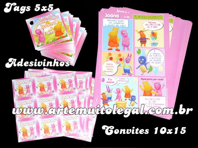 Arte muito legal convites infantis e lembrancinhas de aniversário