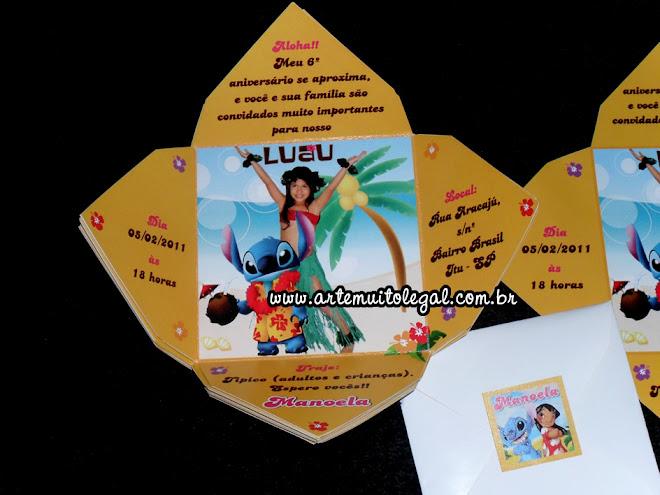 Convites infantis personalizados e lembrancinhas de aniversário - Arte muito legal