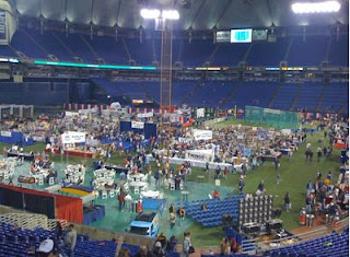 Overhead view of the Minnesota Twins season kickoff, Twinsfest