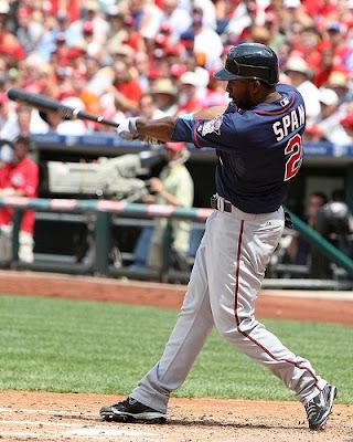Denard Span swinging