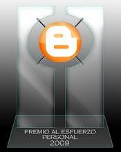 Premio AL ESFUERZO PERSONAL 2009