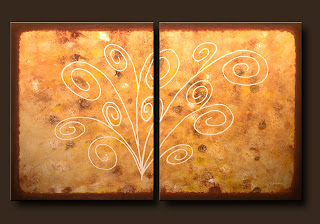 Symbols Painting-White Divine-Abstract Art Paintings by Carmen Guedez - Image