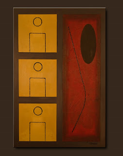 Symbols Painting-Lineup-Abstract Art Paintings by Carmen Guedez - Image