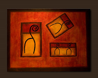 Symbols Painting-El Deseo-Abstract Art Paintings by Carmen Guedez - Image