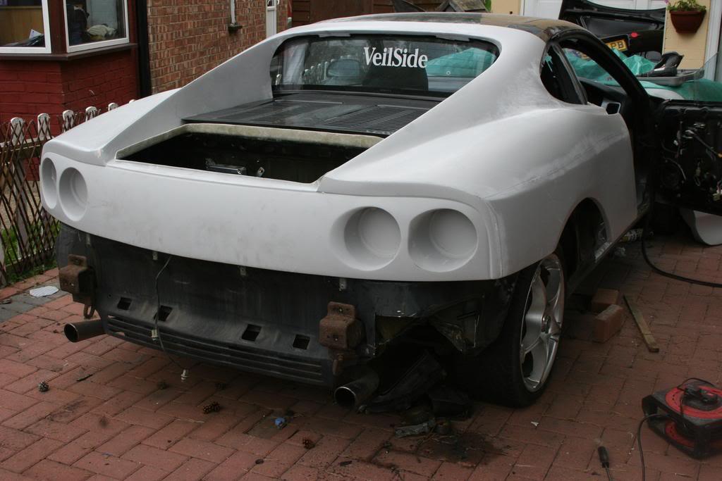 Toyota Mr2 To Ferrari 360 Replica Test Fitting The Body