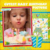 Cutest Baby Birthday Picture
