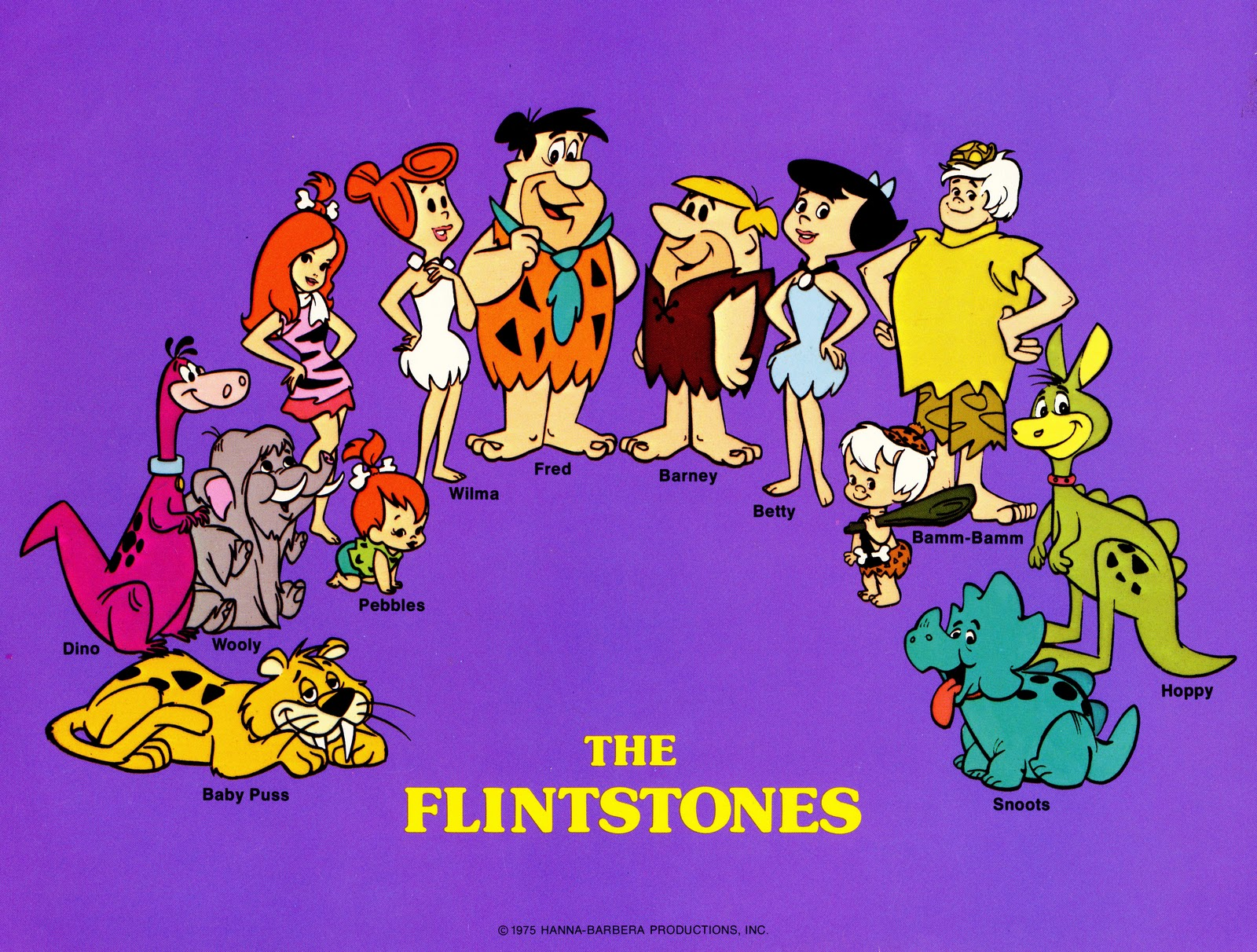 "Hanna-Barbera Studio's promotion art for ""The Flintstones"" circa 1975."