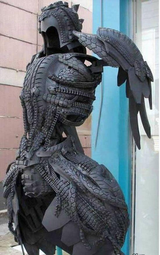 Sorprendentes Esculturas Con Neumáticos Usados