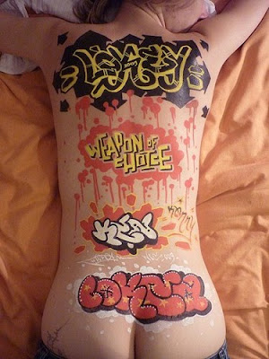 Alphabet Graffiti, Stomach Graffiti, Graffiti Girls, Back Body Graffiti, Full Body Graffiti