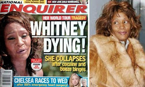 Whitney Houston al borde de la muerte.