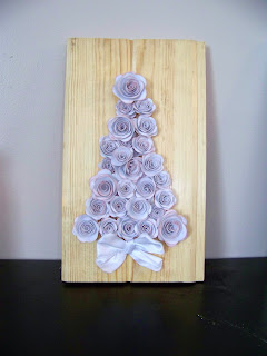 a rose bud christmas tree tutorial