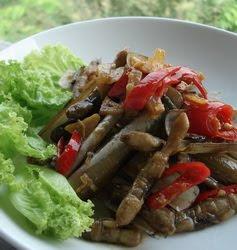 kerang bambu saus tiram resep masakan