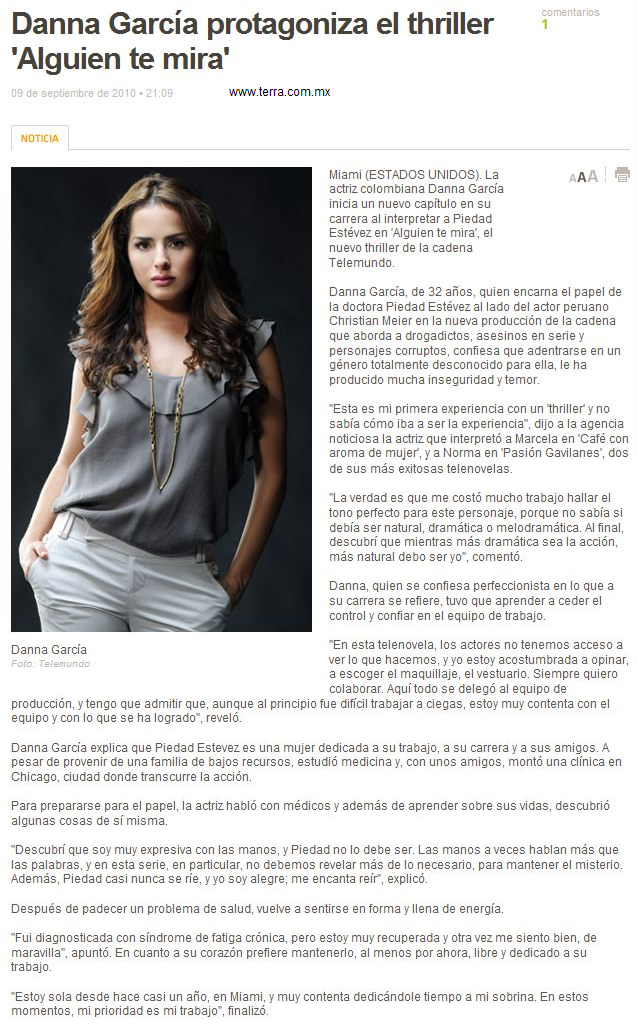 Alguien Te Mira: Danna Garcia protagoniza el thriller ...