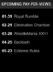 PROXIMOS PPV DE WWE A EMITIR