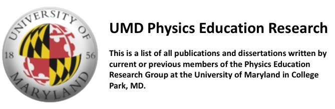 UMD Physics Education Research