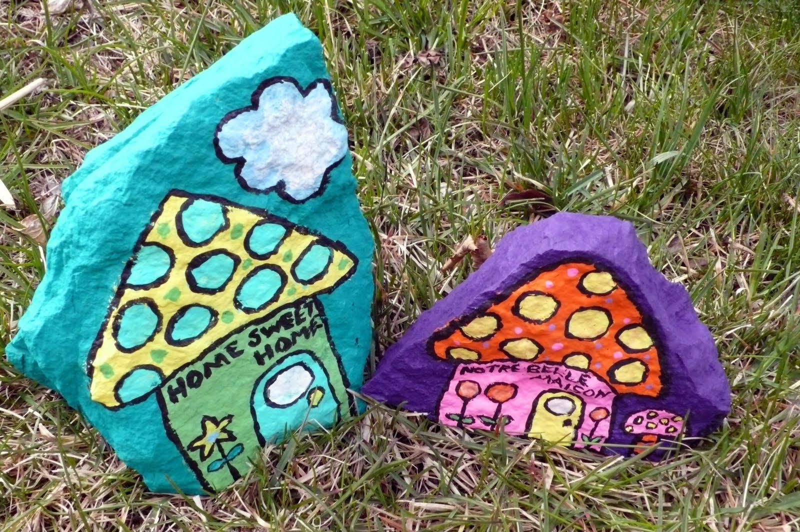 Garden Art Ideas For Kids art food and motherhood: recycled art for kids: painted rocks
