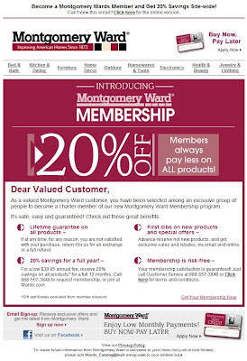 Click to view this Feb. 3, 2010 Montgomery Ward email full-sized