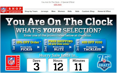 Click to view this Apr. 22, 2010 NFLshop email full-sized