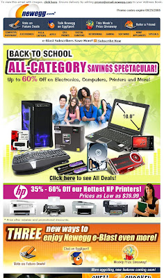 Click to view this Aug. 19 Newegg email larger