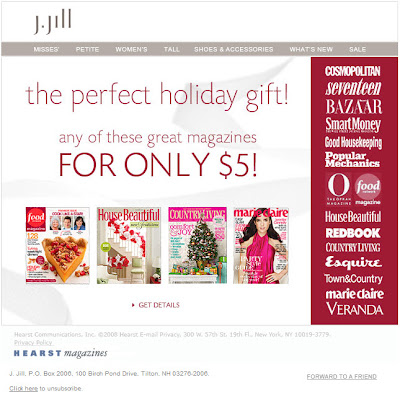 Click to view this Dec. 20, 2008 J. Jill email full-sized