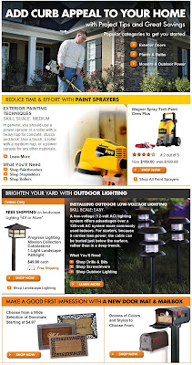 Click to view this March 9, 2009 Home Depot email full-sized