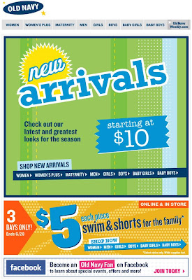 Click to view this June 26, 2009 Old Navy email full-sized